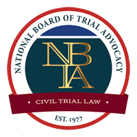 Board Certified Civil Trial Advocate, National Board of Trial Advocacy